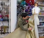 ZAC POSEN making gold dress for Magnum