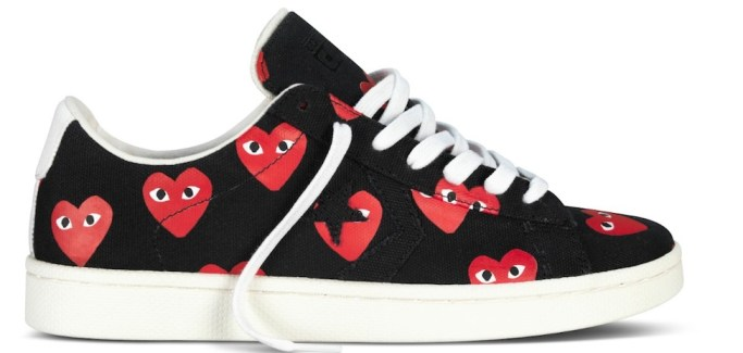 CONVERSE x COMME DES GARCONS play sneakers | fashiondailymag