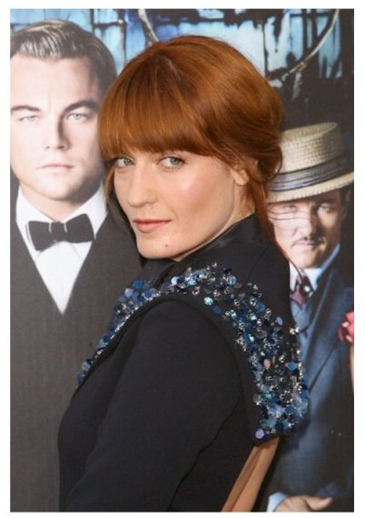 FLORENCE WELCH gatsby premiere beauty laura mercier | FashionDailyMag