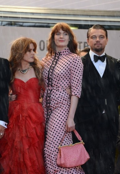 Isla Fisher with Florence Welch and Leonardo DiCaprio cannes