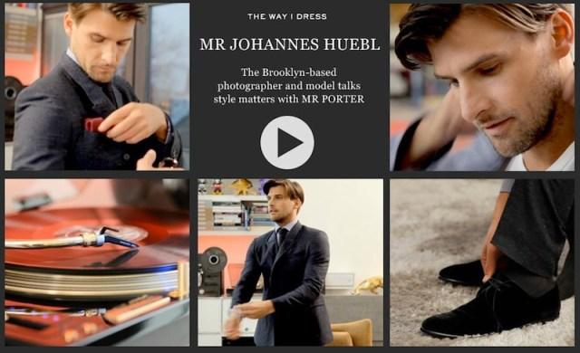 JOHANNES HUEBL for MrPorter on FashionDailyMag
