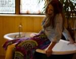 mara hoffman dress current elliot shirt GOLDYN on FashionDailyMag