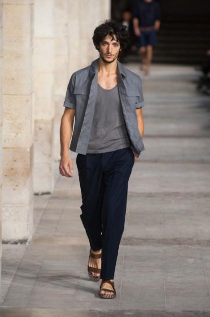 lucho jacob HERMES menswear spring 2014 fashiondailymag sel 27