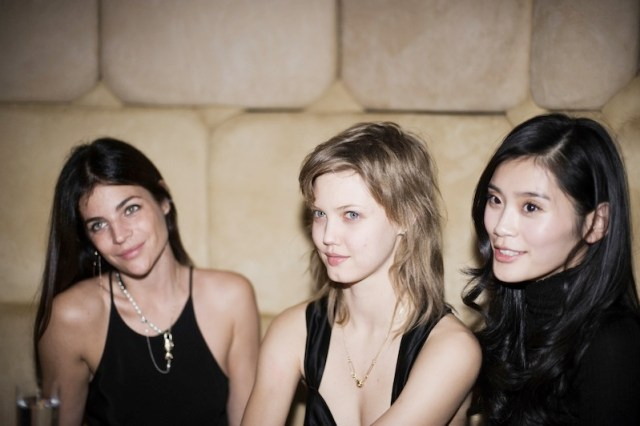 julia restoin roitfeld and lindsey wixson FashionDailyMag