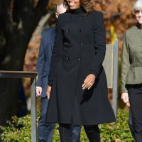 Spotted: First lady Michelle Obama wears Burberry