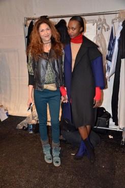 brigitte segura backstage at parkchoonmoo fall 2014