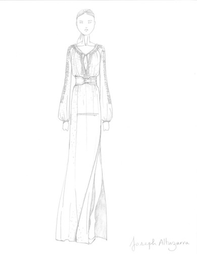 Project Dream Maxi Swiss Dot Sketch