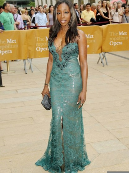 estelle wearing ines di santo at Metropolitan Opera House FashionDailyMag
