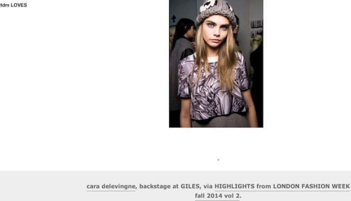 fdmloves cara delevingne LFW british fashion council