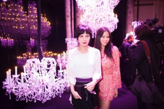 Josie Ho and Yvette Yung at Elie Saab Paris Couture week FashionDailyMag sel 10