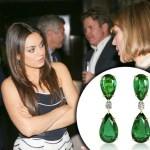 Mila Kunis Wearing Emerald Earrings by DiamondEnvy