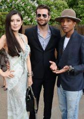 REBECCA WANG with bradley cooper pharrell williams serpentine fashiondailymag
