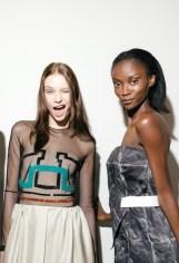 Marios Schwab SS15, backstage (Kensington Leverne, British Fashion Council) 4 fashiondaily mag