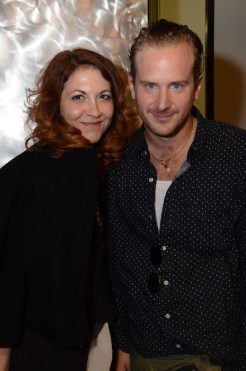 brigitte segura with robert geller designer at ROBERT GELLER SPRING 2015 FASHIONDAILYMAG