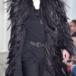feathered COSTUME NATIONAL fall 2015 FashionDailyMag