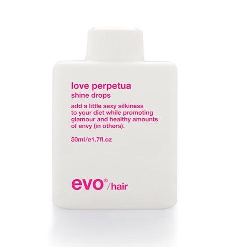 LOVE drops EVO HAIR CARE fashiondailymag
