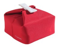 clarins red bag with bow VDAY 2015 fashiondailymag