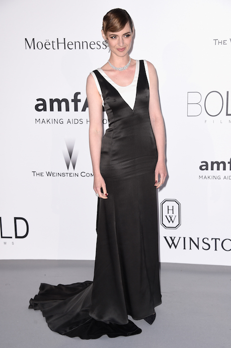 Actress Louise Bourgoin attends amfAR's 22nd Cinema Against AIDS Gala Dior FashionDailyMag