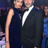 Madalina Ghenea and Moncler CEO Remo Ruffini