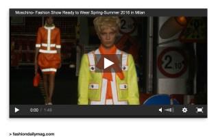 moschino ss16 fashion show video FashionDailyMag