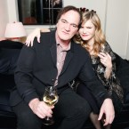 Jennifer Jason Leigh with Quentin Tarantino