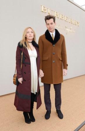 Josephine de La Baume and Mark Ronson burberry fw16 mw FashionDailyMag
