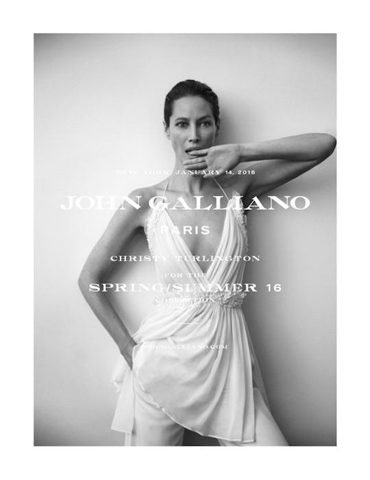 christy turlington JohnGalliano_SS16_Single fashiondailymag