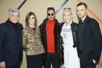 PARIS, FRANCE - JANUARY 21: (L-R) Sydney Toledano, Carine Roitfeld, Lewis Hamilton, Paris Jackson and Kris Van Assche attends the Dior Homme Menswear Fall/Winter 2017-2018 show as part of Paris Fashion Week on January 21, 2017 in Paris, France. (Photo by Victor Boyko/Getty Images) *** Local Caption *** Sydney Toledano; Carine Roitfeld; Lewis Hamilton; Paris Jackson; Kris Van Assche