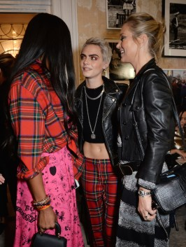 Naomi Campbell, Cara Delevingne and Kate Moss