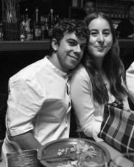 Asa Taccone, (wearing Burberry), Alana Haim, (wearing Burberry)