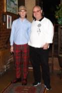 Drew Elliott, (wearing Burberry), Mickey Boardman, (wearing Burberry)
