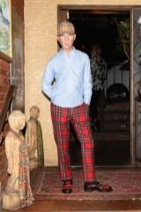 Drew Elliott, (wearing Burberry)