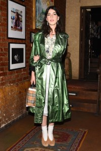 Grace Pickering, (wearing Burberry)