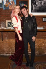 Mary Charteris, Robbie Furze, (wearing Burberry)