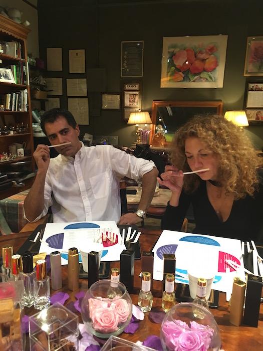 BRIGITTE and JOrge (2) BRIGITTE SEGURA the scentarium tribeca VDAY FASHIONDAILYMAG