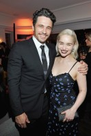LOS ANGELES, CA - JANUARY 04: James Franco (L) and Emilia Clarke attend W Magazine's Celebration of its 'Best Performances' Portfolio and the Golden Globes with Audi, Dior, and Dom Perignon at Chateau Marmont on January 4, 2018 in Los Angeles, California. (Photo by Donato Sardella/Getty Images for W Magazine)