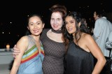 LOS ANGELES, CA - JANUARY 04: (L-R) Hong Chau, W Magazine's Lynn Hirschberg and Salma Hayek attend W Magazine's Celebration of its 'Best Performances' Portfolio and the Golden Globes with Audi, Dior, and Dom Perignon at Chateau Marmont on January 4, 2018 in Los Angeles, California. (Photo by Donato Sardella/Getty Images for W Magazine)