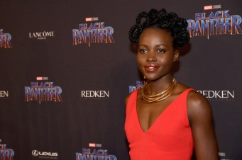 NEW YORK, NY - FEBRUARY 12: Lupita Pyongyang attends the Marvel Studios Black Panther Welcome to Wakanda New York Fashion Week Showcase at Industria Studios on February 12, 2018 in New York City. (Photo by Jamie McCarthy/Getty Images for Marvel)