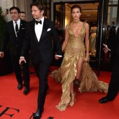 NEW YORK, NY - MAY 07: Irina Shayk and Bradley Cooper attend as The Mark Hotel celebrates the 2018 Met Gala at The Mark Hotel on May 7, 2018 in New York City. (Photo by Andrew Toth/Getty Images for The Mark Hotel)
