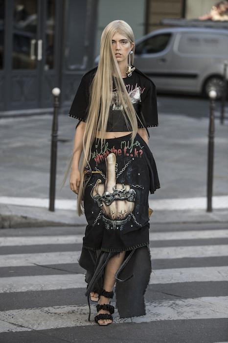 LOOK01 NEITH NYER PARIS FASHION WEEK SS19 Fashiondailymag bleumode