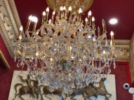 chandelier at NYC barbershop museum NEW YEARS