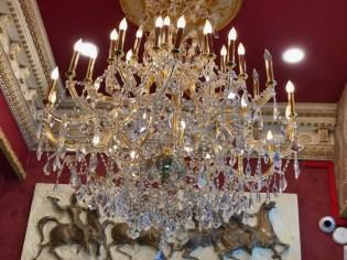 chandelier at NYC barbershop museum NEW YEARS