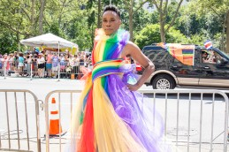 Billy Porter gets ready for WorldPride NYC 2019 on June 30, 2019 in New York City. (Photo by Santiago Felipe/Getty Images) fashiondailymag 5