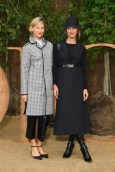 Elizabeth Von Guttman and Alexia Niedzelski Christian Dior : Photocall - Paris Fashion Week - Womenswear Spring Summer 2020