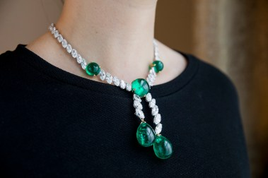 Colombian emerald and diamond necklace, Cartier - model landscape - Magnificent Jewels and Noble Jewels Sotheby's Geneva 13 nov 2019