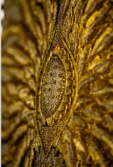 Lot 15 Guo Pei, Gold Chinese Traditional Bridal Dress, Pure gold embroidery thread, leather, European imported fabric (est. £500,000-700,000) (7) on FashionDailyMag Brigitteseguracurator at 11.07.36 AM