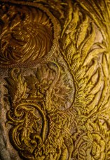 Lot 15 Guo Pei, Gold Chinese Traditional Bridal Dress, Pure gold embroidery thread, leather, European imported fabric (est. £500,000-700,000) (7) on FashionDailyMag Brigitteseguracurator at 9.55.16 AM