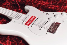 279_A WHITE FENDER STRATOCASTER GUITAR SUPREME OBJECTS handbags x hype christies FashionDailyMag fashion brigitteseguracurator