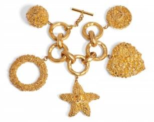 A GOLD TEXTURED CHARM BRACELETCHANEL and BIRKIN handbags x hype christies FashionDailyMag fashion brigitteseguracurator