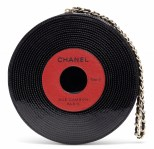 A LIMITED EDITION BLACK & RED PATENT LEATHER RECORD CLUTCH WITH GOLD HARDWARECHANEL and BIRKIN handbags x hype christies FashionDailyMag fashion brigitteseguracurator